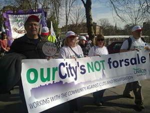 Banner in Glasgow