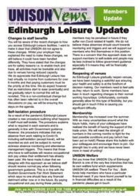 thumbnail of Edinburgh Leisure Update
