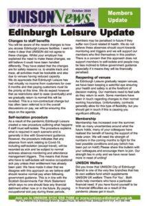 thumbnail of Edinburgh Leisure Update