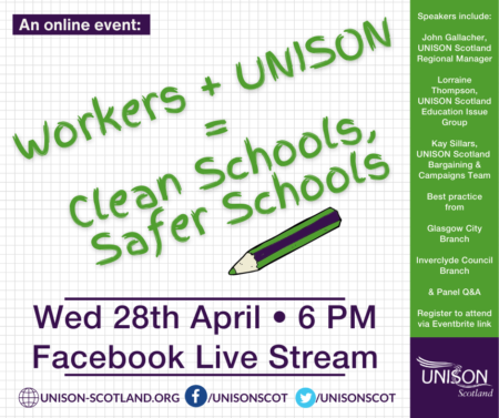 Clean Schools, Safer Schools Facebook Live Event