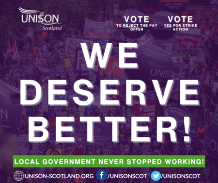 Local Government Trade Unions reject COSLA pay offer