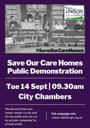Save our care homes public demonstration