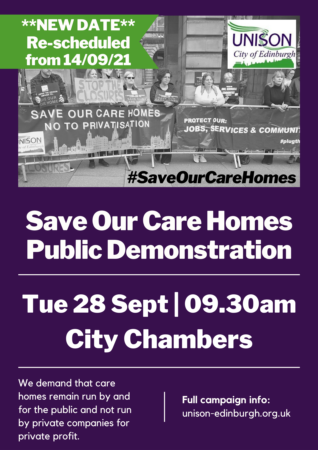 Save our care homes public demo - new date